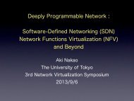Software-Defined Networking (SDN) Network Functions ... - ieice