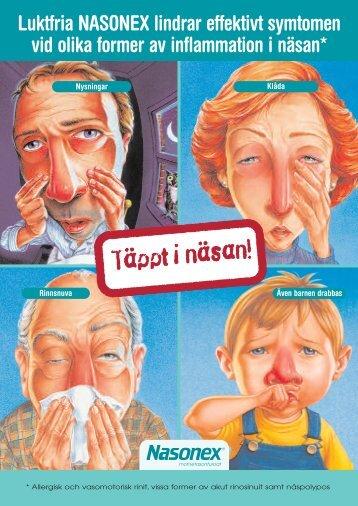 Luktfria NASONEX lindrar effektivt symtomen vid olika former av ...