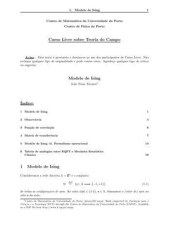 Modelo de Ising - Universidade do Porto