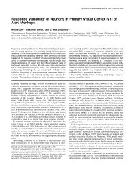 Response Variability of Neurons in Primary Visual Cortex (V1) of ...