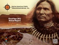 FY12 Annual Report - Native American Public Telecommunications