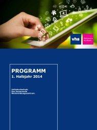 Programmheft 1. Halbjahr 2014 - Volkshochschule Mettmann-Wülfrath