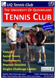 UQ Tennis Club - University of Queensland Tennis Club
