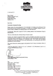 THAMES COROMANDEL - Waikato Regional Council