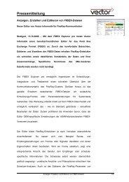 Anzeigen, Erstellen und Editieren von FIBEX-Dateien - Vector