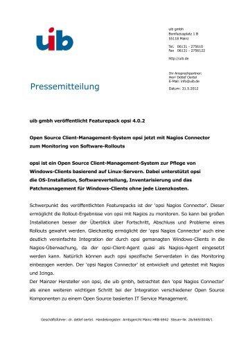 Pressemitteilung - opsi Download - uib
