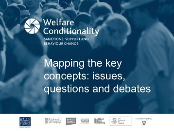 Mapping the key concepts - Welfare Conditionality