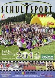 PDF vom SCHULSPORTBERICHT 2012/2013 - Schulsport Kärnten