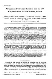 Petrogenesis of Ultramafic Xenoliths from the 1800 Kaupulehu Flow ...