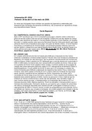 Informativo Nº: 0354 Período: 28 de abril a 9 de maio de 2008. Corte ...