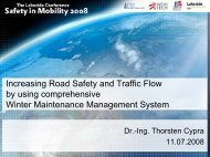 Increasing Road Safety and Traffic Flow by using comprehensive ...