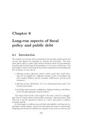 Chapter 6 Long-run aspects of fiscal policy and public debt