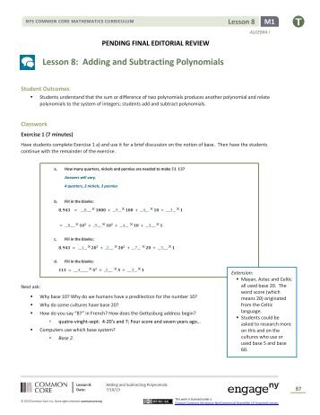 Printables Classifying Polynomials Worksheet classifying adding and subtracting polynomials worksheet answers dding polynomials