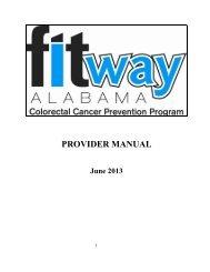 2013 Provider Manual - Alabama Department of Public Health