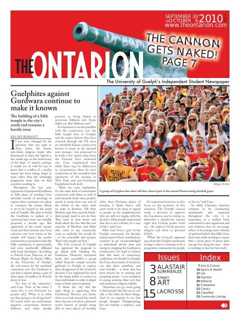 Gryphon rookie uses veteran poise to run to victory - The Ontarion