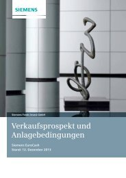 Verkaufsprospekt - Financial Services - Siemens AG