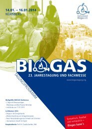 Download Tagungsprogramm - Biogas
