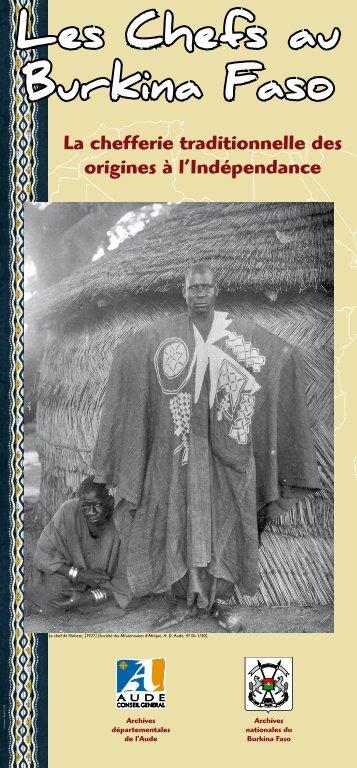 La chefferie traditionnelle des origines à l ... - Aude à la culture