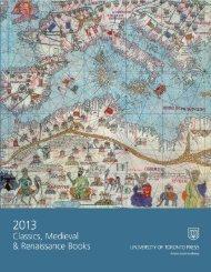 Classics, Medieval & Renaissance 2013 - University of Toronto ...