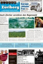 Auch Zürcher zerstören den Regenwald - Lokalinfo AG