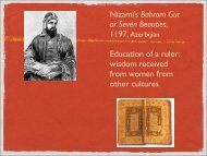 Nizami's Bahram Gur or Seven Beauties, Education ... - GSAVisualarts