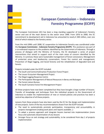 European Commission – Indonesia Forestry Programme (ECIFP)