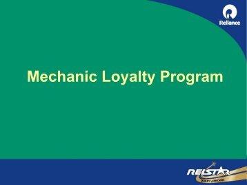 Mechanic Loyalty Program - login
