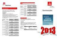 Seminarplan 2013 (PDF 42 KB) - Aktuelles aus der IG Metall ...