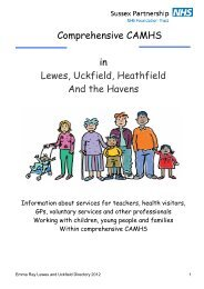 Lewes, Uckfield, Heathfield and Havens CAMHS directory