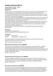 Studium Generale 2013-2 - vhs Frankfurt - Frankfurt am Main