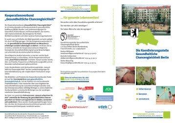 Die Koordinierungsstelle Gesundheitliche Chancengleichheit Berlin