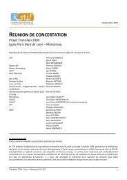 Compte-rendu du comité de ligne Paris Gare de Lyon - STIF