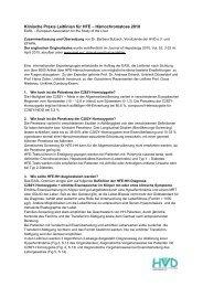 Zusammenfassung der Klinisch Praktischen Leitlinien für HFE ...