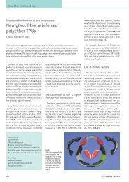 New glass fibre reinforced polyether TPUs - Plasticker