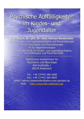 Psychische Auffälligkeiten im Kindes- und Jugendalter