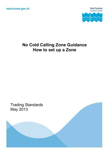 No Cold Calling Toolkit (Adobe PDF) - East Sussex County Council