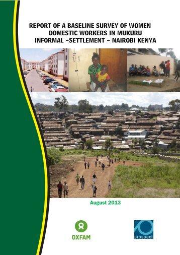 Report: Women domestic workers in Mukuru informal settlement