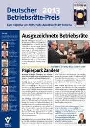 Deutscher Betriebsräte-Preis 2013 - Bund-Verlag GmbH