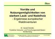 Vorräte und Nutzungsmöglichkeiten von starkem ... - Waldwissen.net