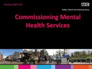Commissioning Mental Health Services Presentation - Dudley CCG