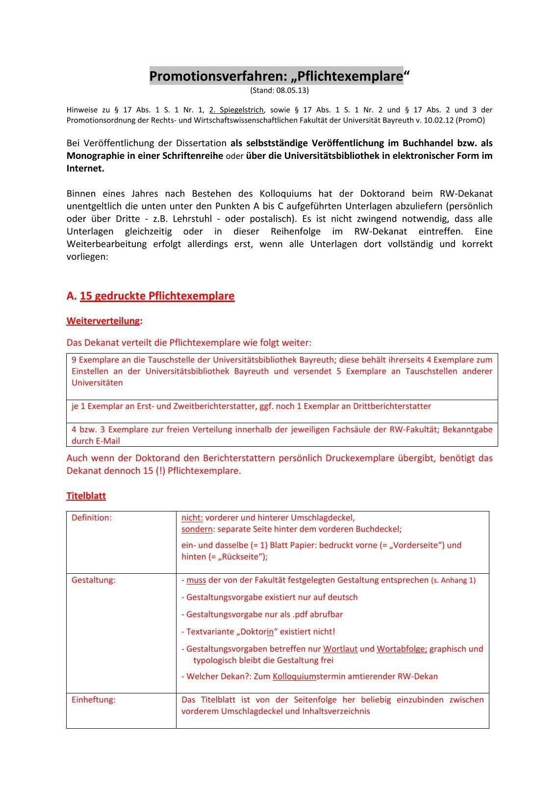 pflichtexemplare dissertation lmu