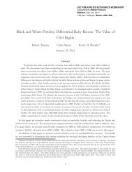 Black and White Fertility, Differential Baby Booms - University of ...