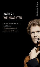 Bach zu Weihnachten - Württembergisches Kammerorchester ...