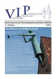 Turmblasen am Heiligen Abend - Pfarrverband Bonn-Melbtal