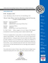 NEWS RELEASE Mission Valley Officers Arrest Two ... - City of El Paso