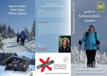 Winterflyer 2014.indd - Geführte Wandertouren