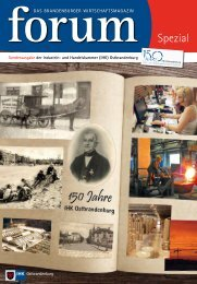 150 Jahren! - Wirtschaftsmagazin Ostbrandenburg