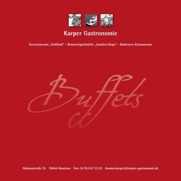 Buffets - Karper Gastronomie