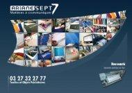 Télécharger le catalogue - Ariane 7