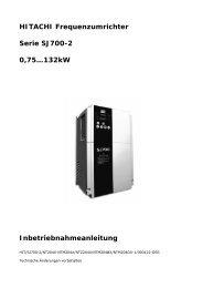 HITACHI Frequenzumrichter Serie SJ700-2 0,75…132kW ...